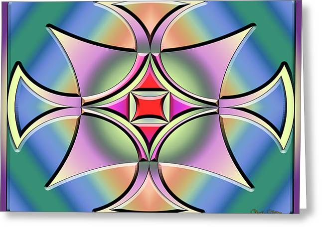 Greeting Card featuring the digital art A Splash Of Color 4 by Chuck Staley