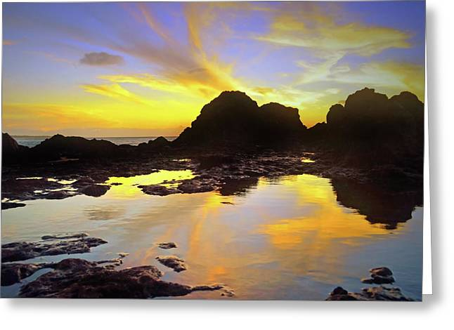 Greeting Card featuring the photograph A Splatter Paint Sunset by Tara Turner