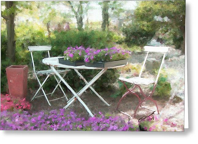 A Spot For Tea Greeting Card by Eddie Durrett
