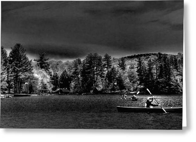 A Spring Day On Old Forge Pond Greeting Card by David Patterson