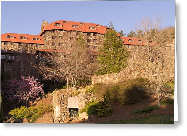 A Spring Evening At The Grove Park Inn Greeting Card by MM Anderson