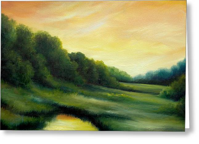 A Spring Evening Part Two Greeting Card by James Christopher Hill