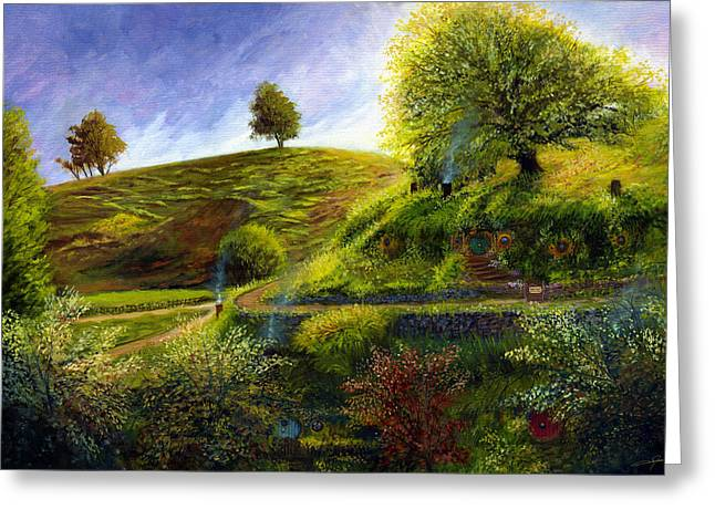 A Spring Morning At Bag End Greeting Card by Dale Jackson