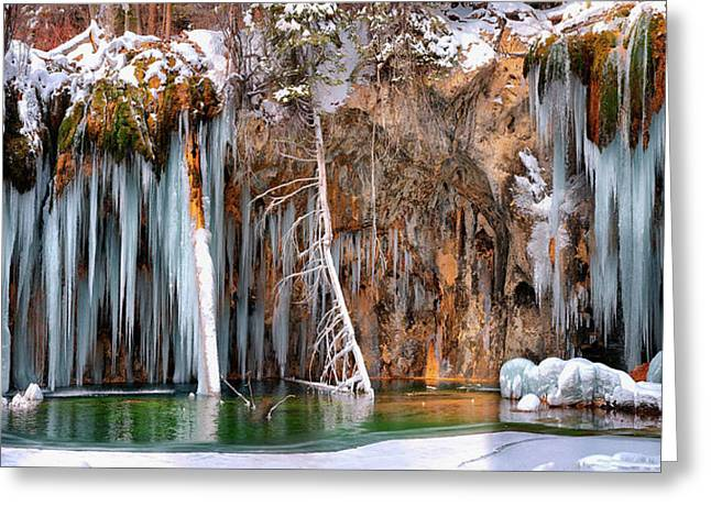 A Spring That Knows No Summer. - Hanging Lake Print Greeting Card