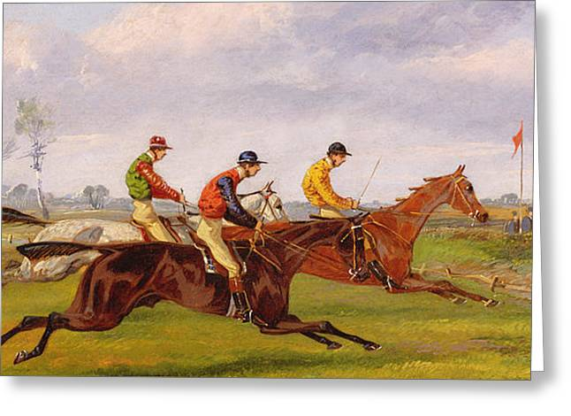 A Steeplechase  Greeting Card by Thomas Henry Alken