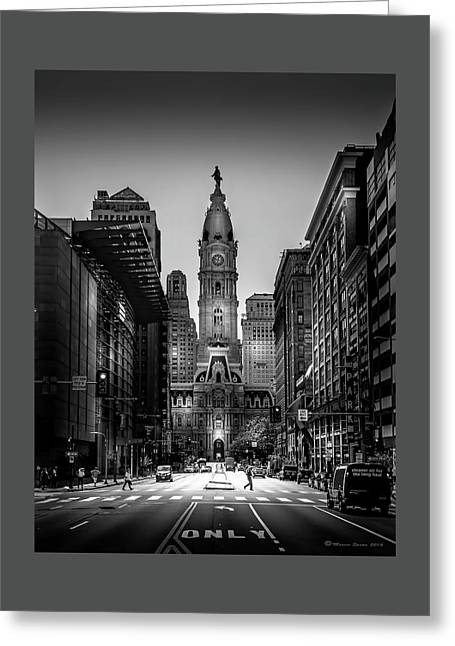 A Step Above B/w Greeting Card by Marvin Spates