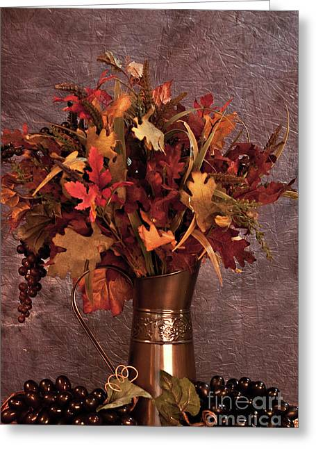 A Still Life For Autumn Greeting Card by Sherry Hallemeier