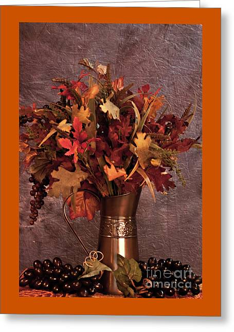 A Still Life For Autumn Greeting Card