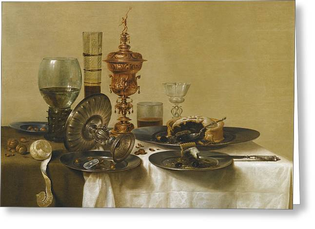 A Still Life Greeting Card by Willem Claeszoon Heda