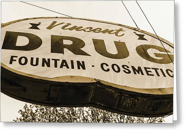 A Store For Everyone - Vintage Pharmacy Sign Greeting Card