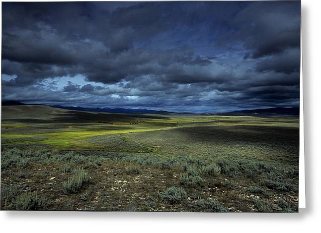 Image Setting Greeting Cards - A Storm Builds Up Over A Colorado Greeting Card by David Edwards