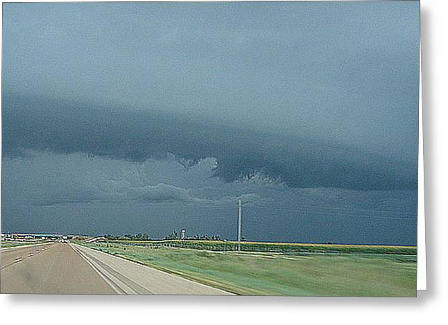 A Storm Is Coming Greeting Card by Luciana Seymour
