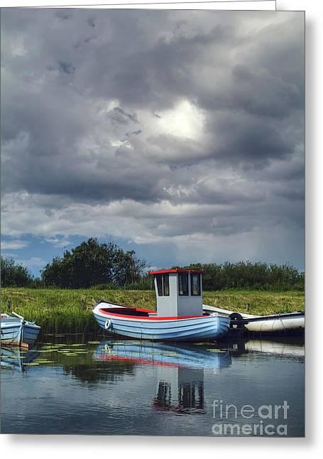 Habor Greeting Cards - A storm moves on Greeting Card by Wedigo Ferchland