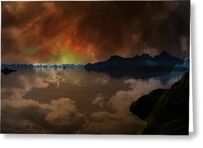 A Stormy Sky Over The South Pacific 1 Greeting Card