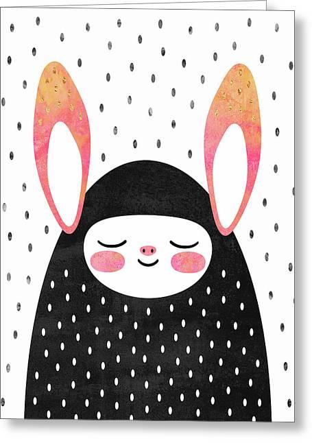 A Strange Little Bunny Greeting Card by Elisabeth Fredriksson