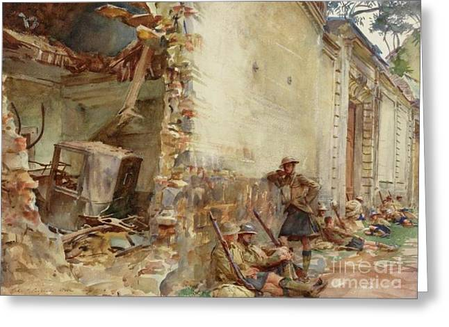 A Street In Arras, Wwi Greeting Card