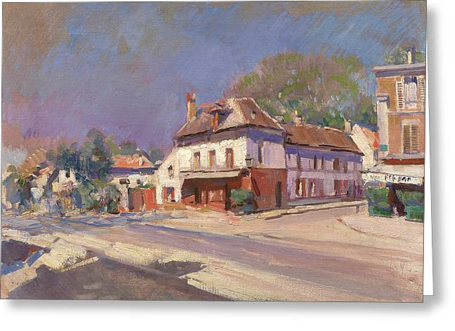 A Street In The South Of France Greeting Card by Korovin Konstantin