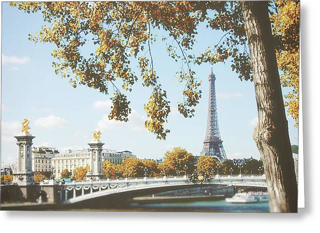 Greeting Card featuring the photograph A Stroll Along The River Seine In Paris by Ivy Ho