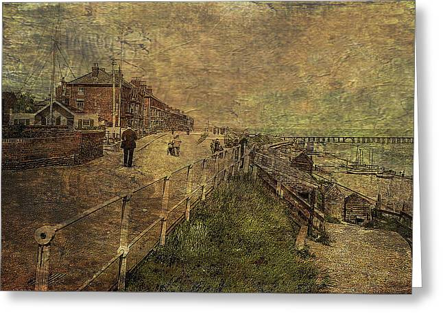 A Stroll Along The Seafront Greeting Card by Sarah Vernon