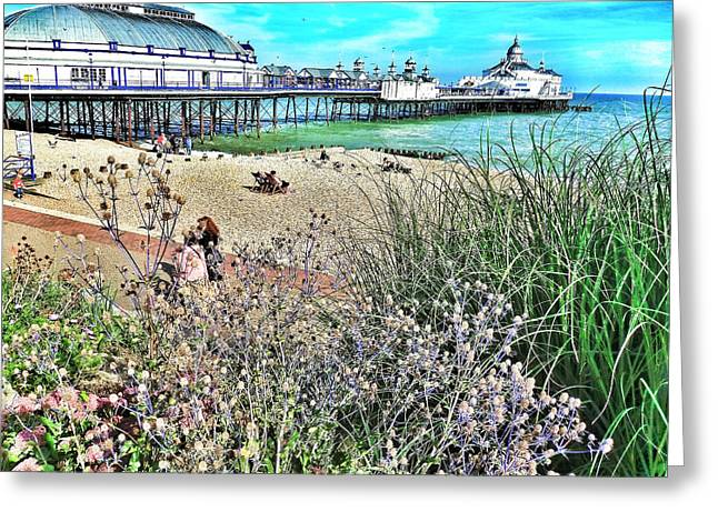 A Stroll At The Seaside  Greeting Card by Connie Handscomb