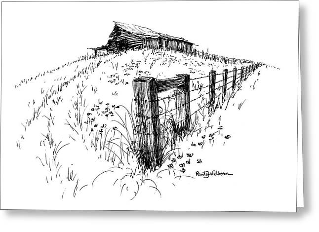 A Strong Fence And Weak Barn Greeting Card