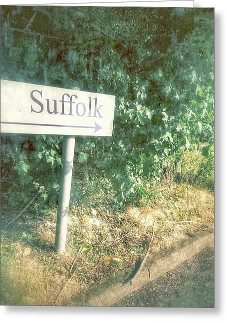 A Suffolk Sign Greeting Card by Tom Gowanlock