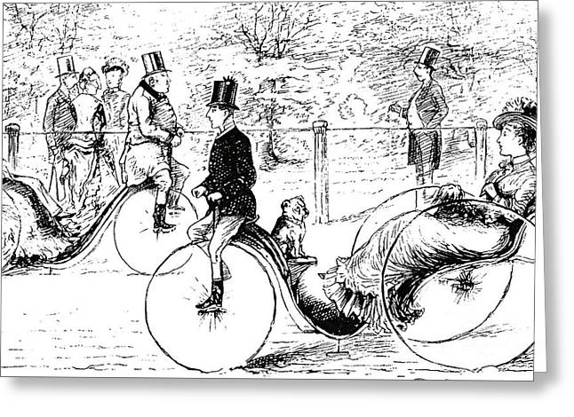 A Suggestion For The Park  Vintage Illustration From Punch Magazine 1878 Greeting Card