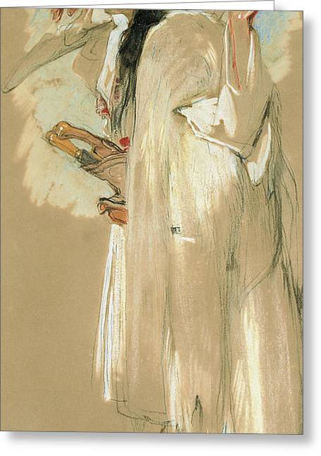 A Suliote Warrior  Greeting Card by John Frederick Lewis