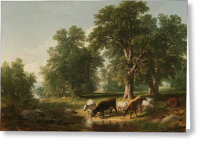 A Summer Afternoon Greeting Card by Asher Brown Durand
