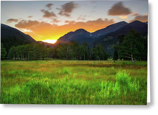 Greeting Card featuring the photograph A Summer Evening In Colorado by John De Bord