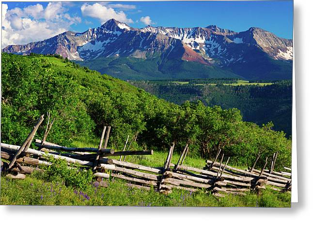 Greeting Card featuring the photograph A Summer In Telluride by John De Bord