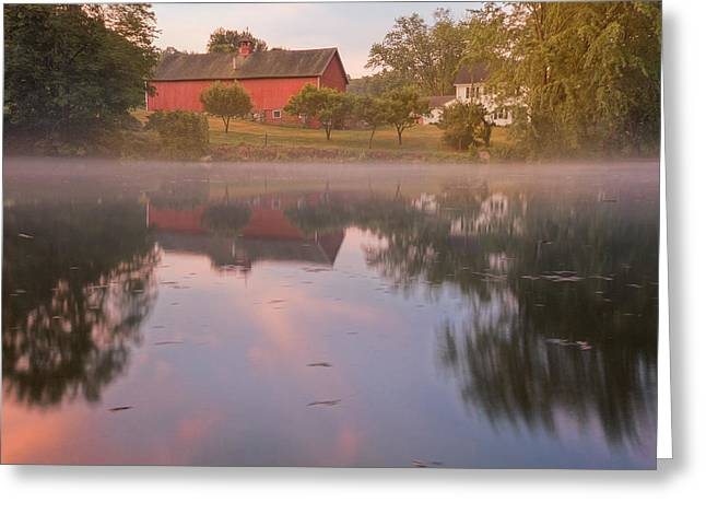A Summer Morning Square Greeting Card by Bill Wakeley