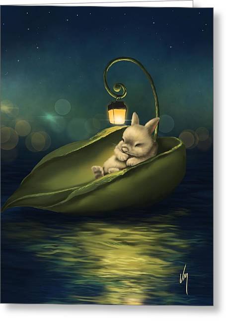 A Summer Night's Dream Greeting Card by Veronica Minozzi