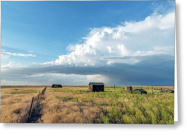 A Summer Storm In Eastern Colorado Greeting Card by Shane Linke