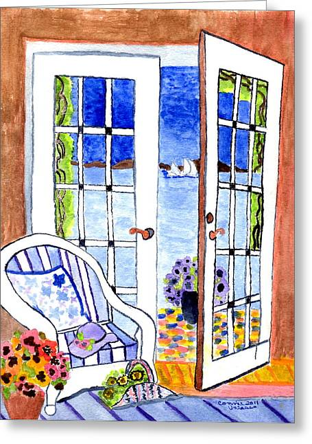 A Summers Afternoon Greeting Card by Connie Valasco