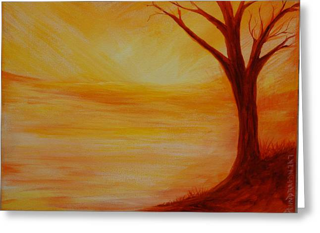 ...a Sun Sets Greeting Card by Amy Stewart Hale