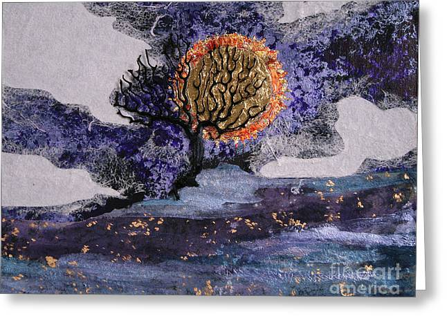 A Sun So Bright Greeting Card by Stanza Widen
