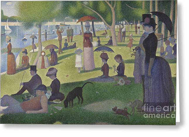 A Sunday On La Grande Jatte Greeting Card by Georges Pierre Seurat