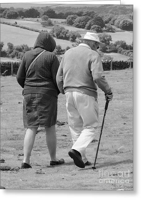 A Sunday Stroll In The Country Greeting Card