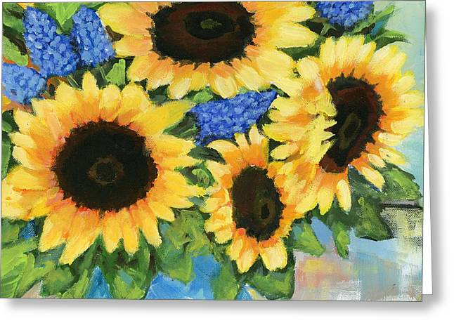 A Sunny Arrangement Greeting Card