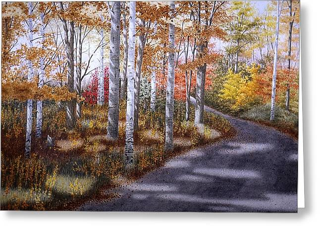A Sunny Autumn Day Greeting Card by Conrad Mieschke