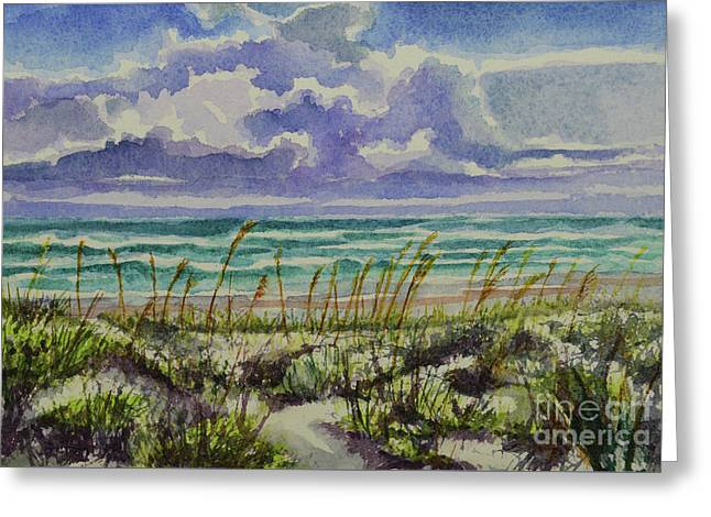 A Sunny Beautiful Day At The Beach Greeting Card