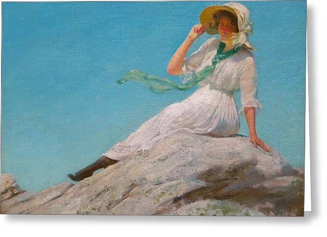 A Sunny Morning  Greeting Card by Charles Courtney Curran