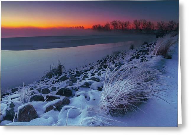 A Sunrise Cold Greeting Card