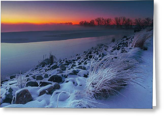 A Sunrise Cold Greeting Card
