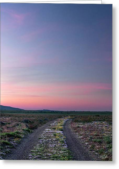 Greeting Card featuring the photograph A Sunrise Path by Leland D Howard