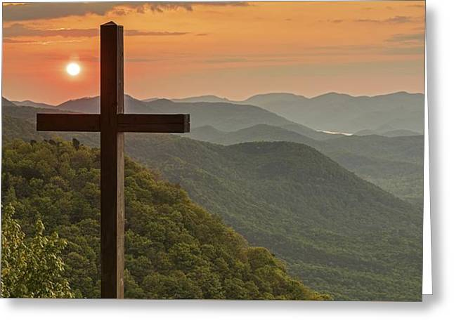 A Sunrise View From Pretty Place Greenville Sc Greeting Card by Willie Harper
