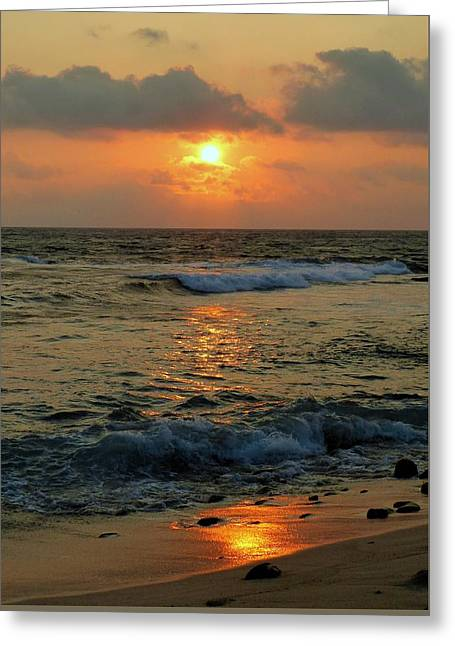 Greeting Card featuring the photograph A Sunset To Remember by Lori Seaman