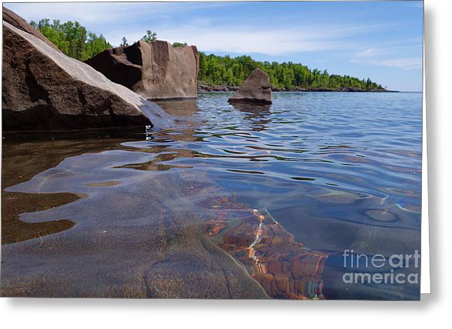 A Superior Shoreline Greeting Card by Sandra Updyke