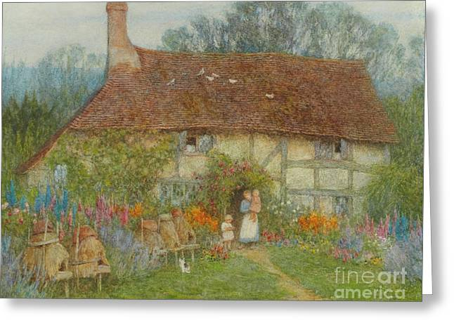 A Surrey Cottage, 1880 Greeting Card